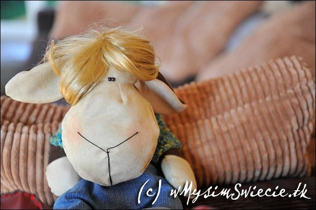 zabawki, ręcznie, robione, maskotki, owca, owieczka, przytulanki